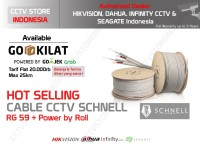 kabel coaxial RG 59 + Power khusus buat cctv Schell Braid 95%