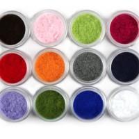 Dekorasi Nail Art Seni Kuku 3D 6pcs Beludru Bubuk Acrylic