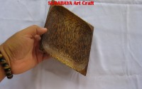 Piring KAYU AREN Wajik 25 x 17 cm Pkt10 Pcs At SurabayaArtCraft