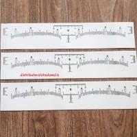 Sticker penggaris sulam alis memudahkan dalam membentuk dan mengukur