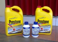 PRESTONE PACKAGE Antifreeze Radiator COOLANT GALON RED MASTER FLUSH