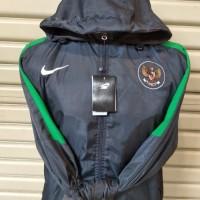 Jaket Indonesia bolak balik / abu abu parasut / parasit waterproof