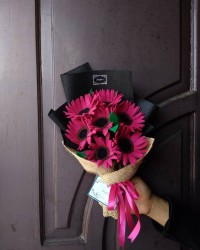 Bunga Flanel Daisy Buket