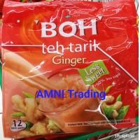 BOH teh tarik JAHE Termurah Malaysia Kurang Gula 12stik x 26g