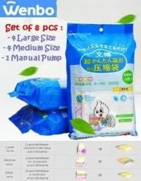 Kantong Vakum Pakaian Baju Selimut Wenbo Vacuum Storage Bag Free Pompa