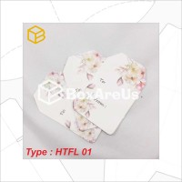 Label HANGTAG FLOWER (100Pcs) | Hangtag Paper Motif Flower