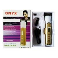 Onyx OX 6001 Alat Cukur professional elektrik rechargeble hair clipper