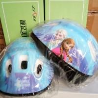 Helm anak cewek frozen untuk sepeda & sepatu roda import