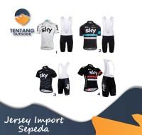 Kaos Baju Jersey Sepeda SKY Import Setelan Satu Set Celana Padding XC