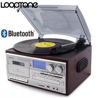 Looptone player piringan hitam lengkap dengan cd,kaset dan bluetooth