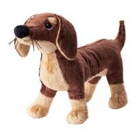 IKEA SMASLUG Boneka anjing warna cokelat