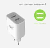 Adaptor Charger ROBOT Kepala 2 USB Original ORI Samsung Android ASUS