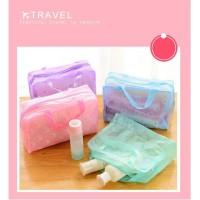 Tas Dompet Kosmetik Toiletries Bag Travel Mate Kit Pouch PVC Anti Air