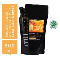 MuTouch Goat's Milk Shower Cream Royal Jelly and Honey 800ml