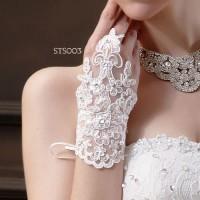 Sarung Tangan Lace Brokat Pengantin Modern l Aksesoris Wedding-STS 003