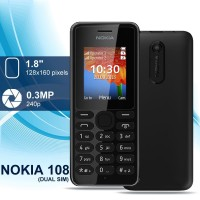 Nokia Jadul Nokia 108 HANDPHONE Nokia Hp murah Mobile Phone 2 SIm