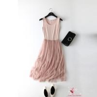 Dress tutu cantik / Dress pesta / Lace Dress / Midi dress