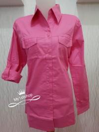 Baju kemeja kerja - Kemeja wanita - Kemeja kantor - kemeja 4 warna