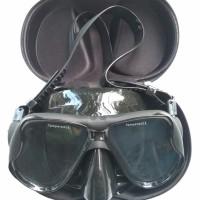 Kacamata Selam Diving Mask Tempered Glass - Black