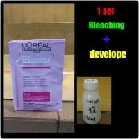 Loreal EFFASOR bleaching rambut 1 set (bleaching + develope)
