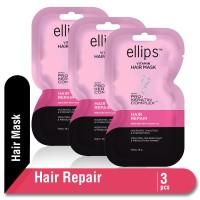 Ellips Hair Mask Keratin Hair Repair 18 gr Multipack 3