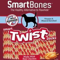 Smartbones twist chicken 50stick. Makanan cemilan anjing dog food