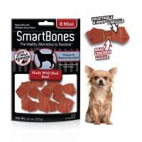 Smartbones beef 8mini. Snack makanan cemilan kunyah anjing dogfood