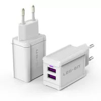 Log On Adaptor Charger 2 Port 3.4A Xiaomi Samsung Oppo BB Asus