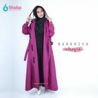 Jas Hujan Muslimah Sheba Barkhiya Blush Model Gamis