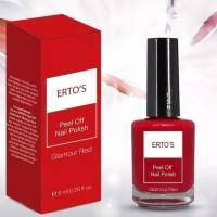 ERTOS Peel Off Nail Polish Glamour Red - Cat Kutek Kuku Ertos