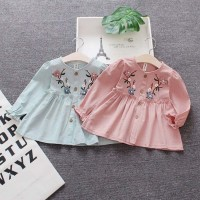 Long Sleeves Embroidery Dress for Baby / Kemeja Dres Anak Perempuan