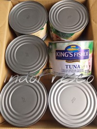 King's Fisher Tuna in Oil- Tuna Kaleng 1800g- 1Dus KHUSUS GOSEND