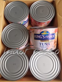 King's Fisher Tuna Hot Spicy- Tuna Kaleng 1800g- 1Dus KHUSUS GOSEND