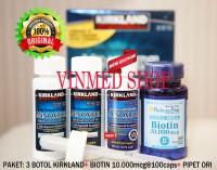 Kirkland Minoxidil+Biotin 10.000mcg@100+Pipet Paket 3 Bulan