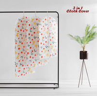 3 in 1 Cloth Organizer FLOWERS / (1 set isi 3 cover baju)