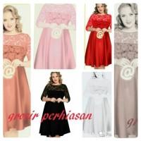 dress jumbo / bigsize / big size / XL / kombi brokat / BAGUS