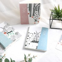 Buku Catatan Spiral Campur Little Blue Rabbit Mixed Notebook