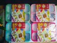 Kotak Makan Bersekat Bento Grid Lunch Box YooYee 4 Sekat No. 578
