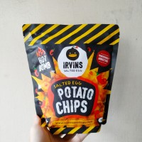 IRVINS Hot Bomb Salted Egg Potato Chips 105 Gram (Made in Singapore)