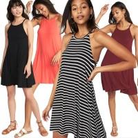 Old Nvy Dress Halter Neck Swing Dress