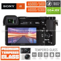 Sony Alpha A5000 A5100 A6000 A6300 LCD Tempered Glass Screen Protector