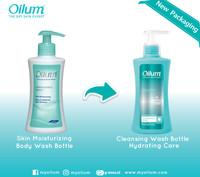 Oilum Collagen Body Wash Skin Moisturizing & Brightening Scrub Bottle