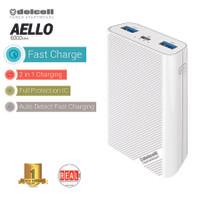 Delcell AELLO Powerbank 6000mAh Real Capacity Garansi 1 Tahun