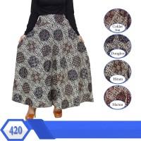 Celan Kulot Jumbo lEBAR mOTIF batik berkaret