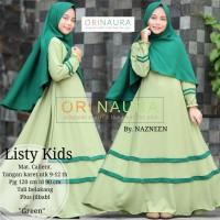 Listy Kids/ Gamis Dress Syari/ Baju Muslim Anak Perempuan