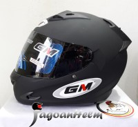GM Helm Race Pro X-Race / RacePRO X Race Single Visor Black Doff