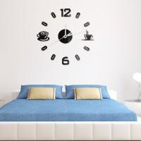 Jam Dinding Besar Akrilik Caffee Bell Cangkir Kopi/DIY Big Wall Clock