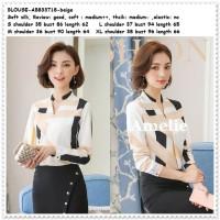 Baju Atasan Kemeja Wanita Putih Blouse Korea Import Tunik AB833718