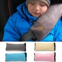 Bantal Leher Mobil Sabuk Pengaman untuk Anak Aksesoris Mobil Biru