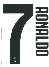 Nameset Juventus 2018-19 Home / Away. RONALDO. Original Nameset.